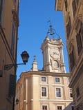 KerkKlokketoren in Rome Stock Afbeelding