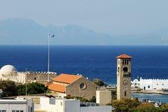 Kerktoren in Rhodos Royalty-vrije Stock Foto