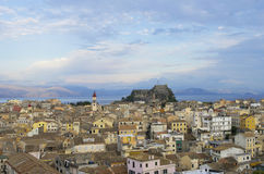 Kerkyra city in Corfu Greece Stock Photos