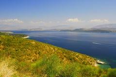 Kerkyra, Corfù, beach landscape Stock Photography