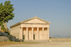 KERKYRA, CORFOU, GRECE St George et x27 ; église de s dans image libre de droits