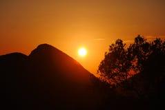 Sunset on the Corfu Stock Photography