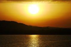Sunset on the Corfu Stock Photos