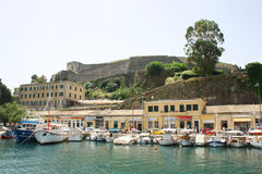 Kerkyra harbor Royalty Free Stock Photography