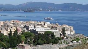 Kerkyra old Corfu town stock video