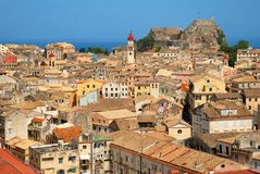 Kerkyra Stadt in Korfu Lizenzfreie Stockfotografie