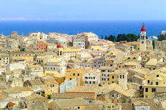 The city of Kerkyra, Corfu island, Greece Stock Photos