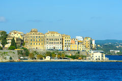 The city of Kerkyra, Corfu island, Greece Stock Image