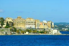 The city of Kerkyra, Corfu island, Greece Stock Image