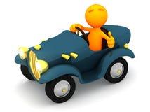 Kerl 3d: Fahrer Gives Thumbs Up Lizenzfreie Stockfotos