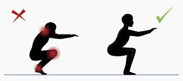 Kerl, der Liegestütz tut Hocken des körperlichen Trainings Stockbilder