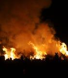 Kerl Fawkes Feuer Stockbild