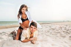 Kerl und seine Freundin Stockfoto
