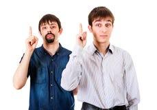 Kerle mit dem Finger oben Lizenzfreies Stockbild