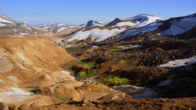 Kerlingarfjöll chocolate mountain panorama Royalty Free Stock Photos