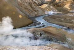 Kerlingarfjöll. Valley of hot springs at Kerlingarfjöll Stock Photography