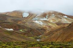 Kerlingarfjoll地热地区,冰岛 图库摄影