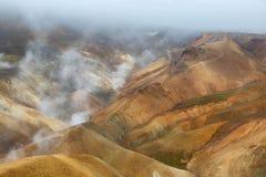 Kerlingarfjoll地热地区,冰岛 免版税图库摄影
