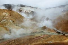 Kerlingarfjoll地热地区,冰岛 免版税库存照片