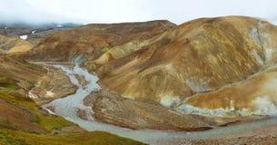 Kerlingarfjoll地热地区,冰岛 免版税库存图片
