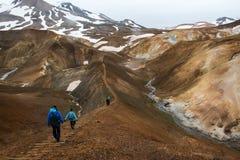 Kerlingarfjoll em Islândia imagem de stock