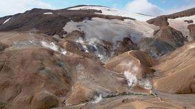 Kerlingarfjoll geotermal area stock video footage