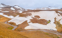 Kerlingarfjoll. Geothermal area in the highlands of Iceland Royalty Free Stock Image