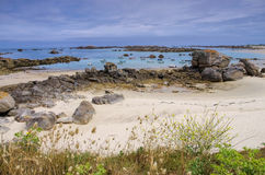 Kerlouan beach in Finistere in Brittany. France Royalty Free Stock Photography