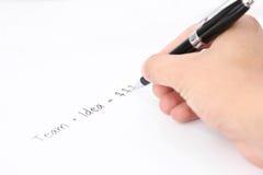 Kerlzeichnung und plaining Erfolgsdiagramm lizenzfreies stockbild