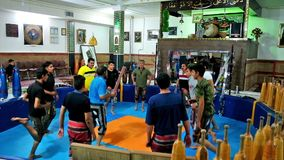 Athletes at training inZurkhaneh House of Strenght sport club. KERMAN, IRAN - OCTOBER 16, 2017: Athletes of different age and physical form train in Zurkhaneh stock footage