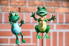 Kermett la grenouille et sa princesse sur une brochette Photo libre de droits