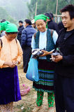 Fair of ethnic minorities people - Sunday market Royalty Free Stock Photos