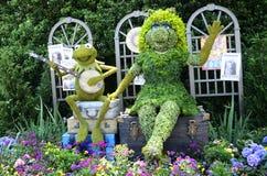 KERMIT & η Δεσποινίς Piggy Topiary Στοκ Εικόνες