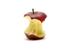Kern des roten Apfels getrennt auf Weiß lizenzfreie stockfotografie