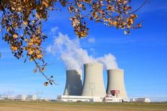 Kern elektrische centrale. royalty-vrije stock foto's
