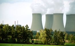 Kern Elektrische centrale #5 Royalty-vrije Stock Afbeeldingen