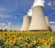 Kern elektrische centrale Temelin Stock Fotografie