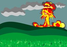 Kern explosie Stock Fotografie