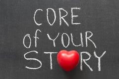 Kern Ihrer Geschichte Stockbild