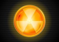 Kern stralings vectorsymbool Stock Afbeelding