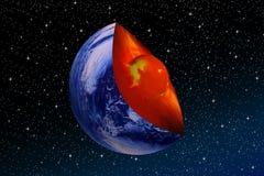 Kern van de aarde Royalty-vrije Stock Afbeeldingen