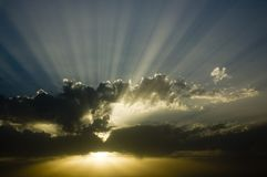 Kern zonsondergang #2 Royalty-vrije Stock Foto