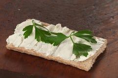 Kernachtig brood met kwark stock fotografie