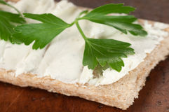 Kernachtig brood met kwark royalty-vrije stock afbeelding