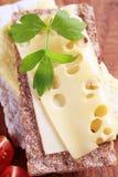 Kernachtige brood en kaas Royalty-vrije Stock Afbeelding