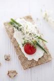Kernachtige broodsandwich Royalty-vrije Stock Afbeeldingen