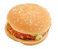 Kernachtige kippenhamburger royalty-vrije stock foto's