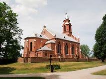 教会在Kernave。立陶宛 免版税库存图片