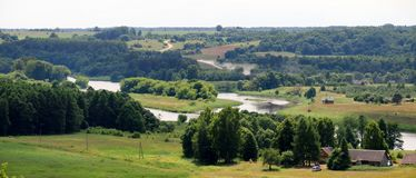 Kernave capital histórico lituano fotos de archivo