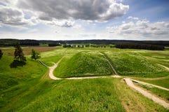 Kernave capital histórico lituano Imágenes de archivo libres de regalías